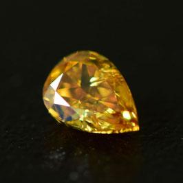 0,25 ct, Fancy Intense Orange-Yellow, I2, Pear, GIA Certified