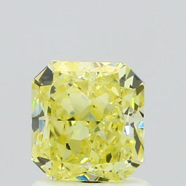V 1,06 ct, Fancy Yellow, IF, Radiant, GIA Certified