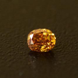 0,11 ct, Fancy Deep Orangy Yellow, (SI2), Oval, IGI Certified