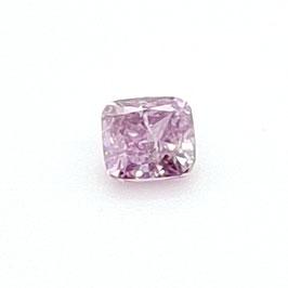 0,18 ct, Fancy Intense Pink-Purple, I2, Cushion, GIA Certified