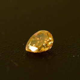 0,35 ct, Fancy Deep Brownish Orange, (I1), Pear, IGI Certified