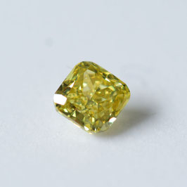 0,23 ct, Fancy Deep Brownish Greenish Yellow, SI1, Radiant, GIA Certified