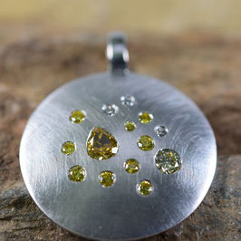 "Diamantamulett ""yellow summer"" 20mm"
