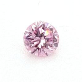 0,10 ct, Fancy Intense Purplish Pink, I1, Round, IIDGR Certified
