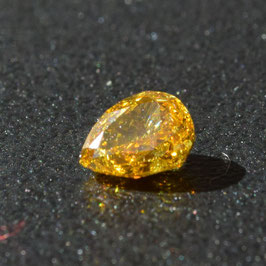 0,35 ct, Fancy Deep Orangy-Yellow, SI1, Pear, GIA Certified