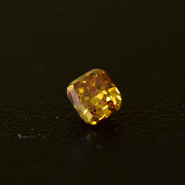 0,16 ct, Fancy Deep Orangy Yellow, (I1), Radiant, IGI Certified