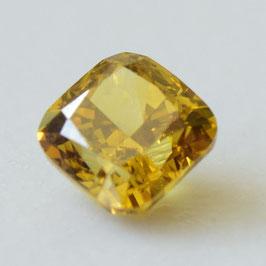 0,34 ct, Fancy Deep Brownish Yellow, SI1, Cushion, IGI Certified
