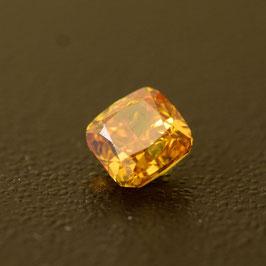 V 0,38 ct, Fancy Intense Orangy Yellow, VS2, Radiant, IGI Certified
