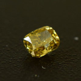 0,24 ct, Fancy Intense Brownish Yellow, SI2, Cushion, IGI Certified