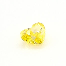 0,44 ct, Fancy Vivid Yellow, VVS1, Heart, GIA Certified
