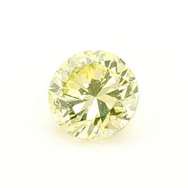 1,47 ct, Fancy Green-Yellow, SI2, Round, GIA Certified
