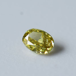 0,20 ct, Fancy Deep Brownish Greenish Yellow, SI1, Oval, GIA Certified