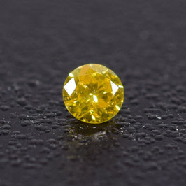 V 0,04 ct, Fancy Vivid Yellow*, VS*, Round