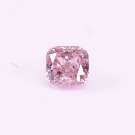 0,21 ct, Fancy Light Greyish Pink, SI2, Cushion, IGI Certified