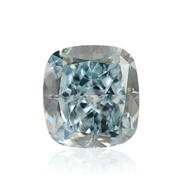 0,12 ct, Fancy Blue Green Diamond, (VS1), Cushion, GIA Certified