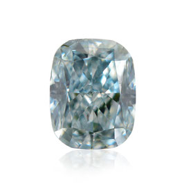 0,17 ct, Fancy Blue-Green, SI1, Cushion, GIA Certified