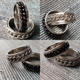 Edelstahl Herren Band Ring / Ketten Style