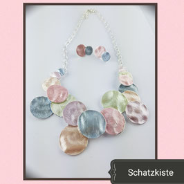 Modisches Emaille Collier - Set  bunt