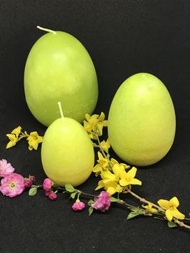 """Trend Ostereierkerzen """"Limone"""" in 3 verschiedenen Größen"""