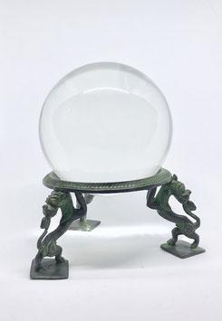 """Kristallkugel inkl. Ständer """"Geistlöwe"""""""