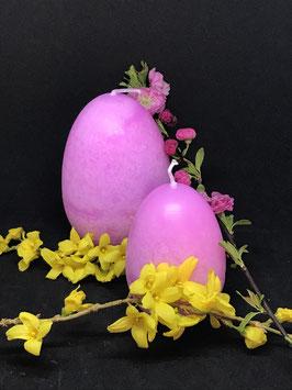 """Trend Ostereierkerzen """"Rosa"""" in 3 verschiedenen Größen"""