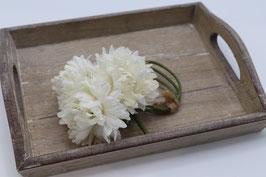 Bouquet chrysanthème blanc cassé
