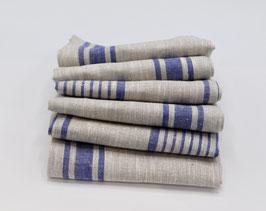 Serviettes en lin Lilli bleu