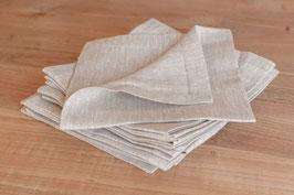 Serviettes en lin chiné