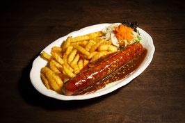 Currywurst mit Pommes frites