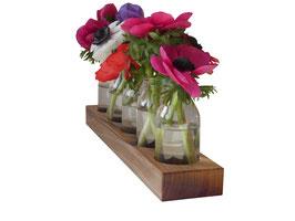 Blumenvase, Hochzeit, Vase Nr.11 in Nussbaumholz