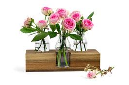 Blumenvase, Tischdekoration, Vase Nr. 3 in Nuss