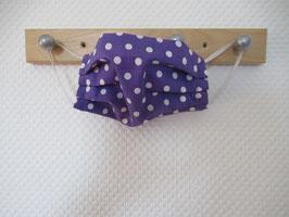Behelfsmaske lila und weißen Punkten