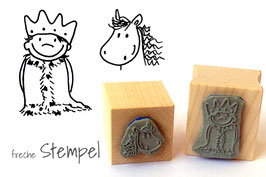 König Felix und sein Pferd Paprika