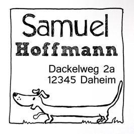 Dackel Waldemar Adress-Stempel