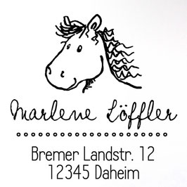 Pferd Kalle Adress-Stempel