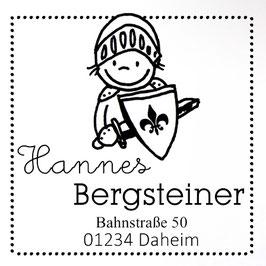Ritter Hanno Adress-Stempel