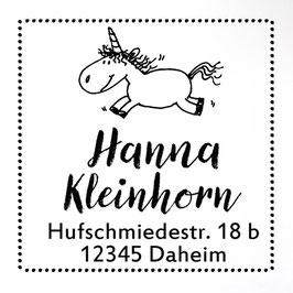 Einhorn Moppelchen Adress-Stempel