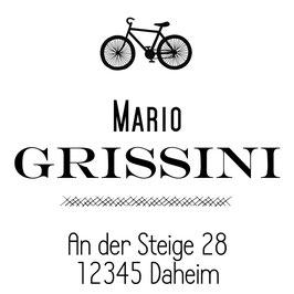 Bike  Adress-Stempel