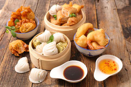 Asiatisches Fingerfood   Dim Sum  in allen Variationen
