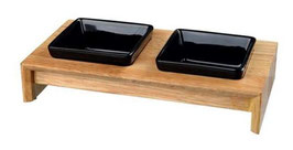 Napf-Set Holz schwarz