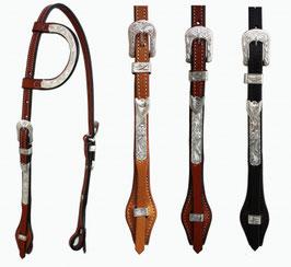 """""""EE Tack"""" Kopfstück - Silber - EE Leather - Quick Change Silver Buckle - Einohr"""