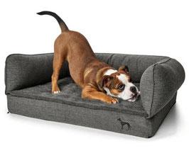 Orthopädisches Hundesofa grau