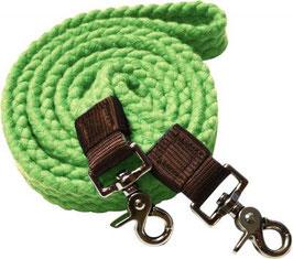 Baumwollzügel grün eckig