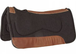 Mustang Poron XRD Black Wool Contoured Westernpad 7601-D 3/4""