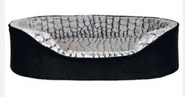 Vital Orthopädisches Bett Lino schwarz/grau