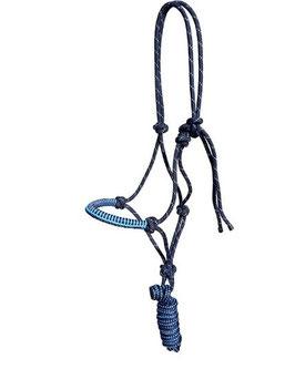 Knotenhalfter-Set navy-hellblau
