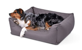 Hundebett der EXTRAklasse grau