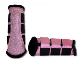 Glitzer Gamaschen pink