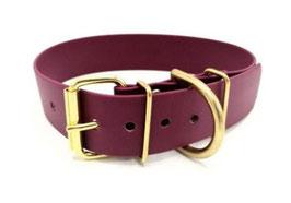 """BioThane® Halsband """"Wine-red"""" (Breite 4cm)"""