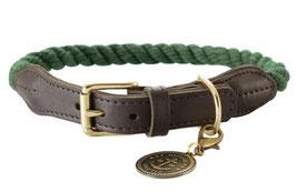 Halsband List leder/oliv
